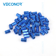 Veconor 48pieces/pack  universal aluminum hexgon style auto car tyre valve caps motorcycle bicycle wheel tire valve cap
