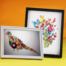 Modern Glass Photo Frames Nice plastic Picture Frame Plant Specimen Clamp Handicraft Display Frames Home Store Decoration