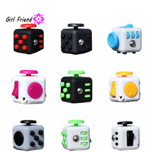 9 Colors New Arrival Baby Original Fidget Cube Desk Toys Fidget Cube Anti Irritability Toy Magic Cobe Funny Kids Gift(China)