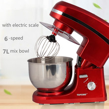 Electric Mixer Food Processor Dough Kneading Machine 7L 1000W Eggs Cake Kitchen Stand Mixer Food Cooking Mixing Beater(China)
