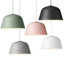 Colored Creative Nordic Aluminum Pendant Light Modern simplicity style bar restaurant foyer dining room lighting lamp