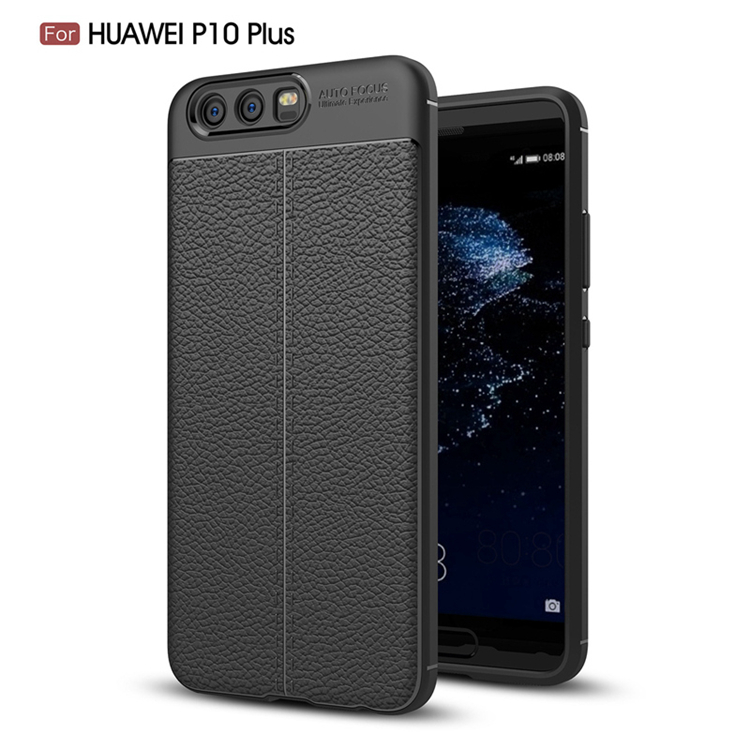 TIKONO Case For Huawei P10 Plus Cover Silicon TPU Luxury Leather Slim Soft Protective Cell Phone Cases for Huawei P10 Plus Case 6