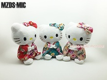 3 Styles Cartoon Anime Hello Kitty kimono Ver. 20CM Plush Toys Cute Stuffed Dolls Children Birthday Gift