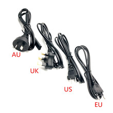 New Black 1.5m EU US UK AU To IEC 320 C7 Female Angled Power Cable C7 Plug Power Cord PowerPort USB Charger
