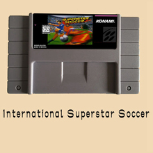 International Superstar Soccer 16 bit Big Gray Game Card For NTSC/PAL Game Player(China)