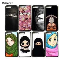 Muslim islamic girls soft silicone edge hight quality mobile phone cases for iphone x 5s se 6 6s 6plus 7 7plus 8 8plus case(China)