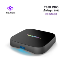 MEMOBOX T95R PRO Android 6.0 Smart TV Box Octa core Amlogic S912 Dual Band WiFi BT4.0 UHD 4K H.265 IPTV 3D Player RAM 2G ROM 16G