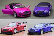 Candice guo alloy mini car model 1:43 bentley ISR GT3 racing color vehicle motor pull back Christmas present birthday gift 1pc