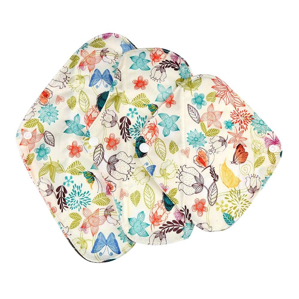 1pc New Arrival Women's Reusable Bamboo Cloth Washable Menstrual Pad Mama Sanitary Towel Pad Pretty Feminine Hygiene Product 15