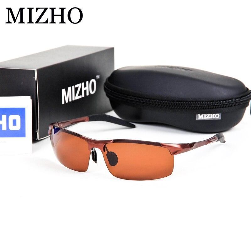 MIZHO UV Drivers Car oculos de sol masculino Enhance Antireflection To Protect Eyesight Sunglasses Men Polarized Luxury Brand<br><br>Aliexpress