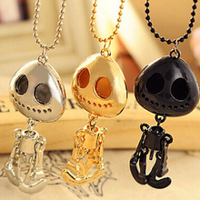 3pcs/lot  Nightmare Necklace For Women Is Made From Stainless Steel Length Chain Jack Skellington Necklace Free Shipping