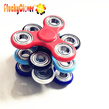1 pc Red Colorful ABS Fidget Spinner Red White Black Light Blue Magic Dark Blue Long Lasting Hand Finger Spinners For Kid Adult