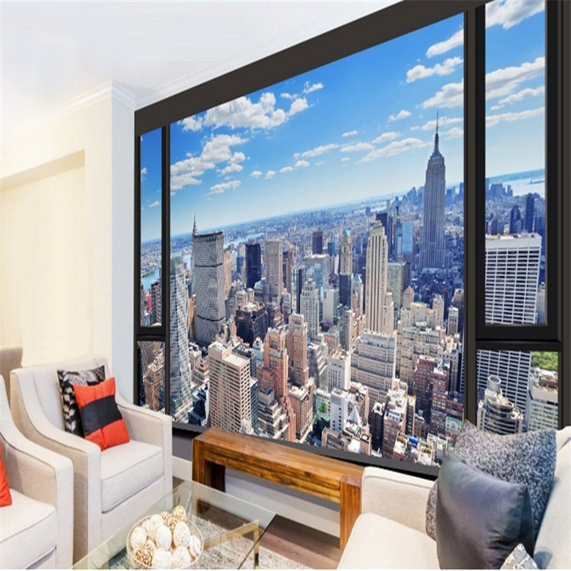 Custom 3d photo wallpaper urban landscape embossed wallpaper 3d living room bedroom TV 3d murals wallpaper modern painting mural<br><br>Aliexpress