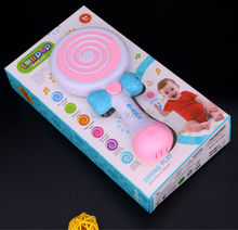 Lollipop swing musical toys piano Music Toys eight scales loop,drum set educational toys with light