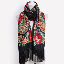 2017 New designer brand high quality Female printing long tassel winter wrapped scarf warm shawl scarves For women 11 color(China)
