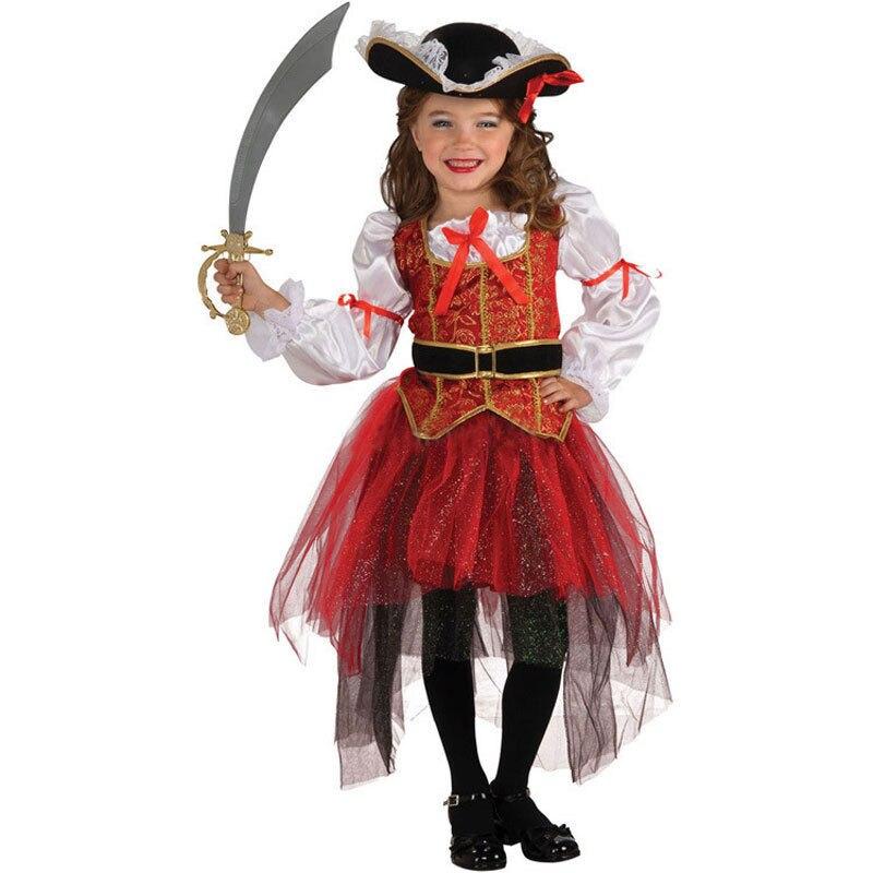 infantil kids child girls pirate costume carnival halloween princess fairy fancy dress up royal cosplay dress - Halloween Princess Costumes For Toddlers