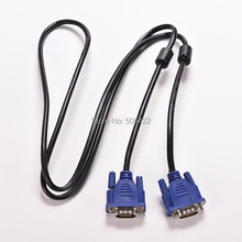 1.5M 5FT 15 PIN VGA HDB15 SUPER VGA SVGA M/M Male To Male Connector Cable Cord Extension Monitor FOR PC TV