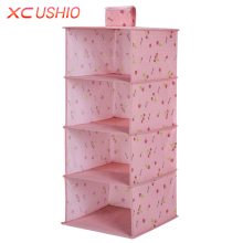 XC USHIO Multilayer Wardrobe Hanging Storage Bag Moistureproof Clothes Toys Storage Organizer Magic Tape Closet Container Box(China)
