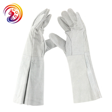 OLSON DEEPAK Cow Split Leather Barbecue Carrying Factory Gardening Welding Protective Work Gloves HY032 Free Shipping(China)