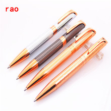 Luxury pens 719 Rose gold squares Cross Line School Stationery Office Supplies Business office Medium nib Ballpoint Pens New(China)