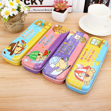 THE CUTE CARTOON PENCIL BOX TIN BOX PENCIL CASE SCHOOL STATIONARY KIDS GIFT(China)