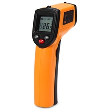 2017 GM320 Non-Contact Laser LCD Display IR Digital Thermometer Temperature Infrared Thermometer For Industry Home Use(China)