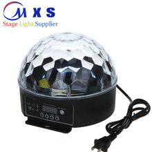 6 channel Digital display DMX512 Sound active rotating led crystal magic stage par light ball for Disco KTV DJ play.