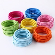 Wholesale 50pcs/lot Multicolor Tiny Hair Bands Ropes Elastic Girl Kids Ties Ponytail Holder Hair Accessories