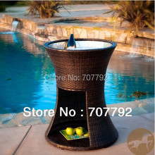 2017 New Style Apollo Brown Wicker Rattan furniture Set (no inner Stainless steel ice bucket)