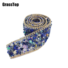 High Quality Wedding Dress Designer Rhinestone Appliques Rhinestone Wedding Decoration Bridal Applique Beaded Applique Sash Belt