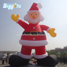 Hot Sale Giant Advertising Inflatable Christmas Santa Cartoon Characters For Decoration