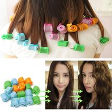 18pcs Set Fashion Snail Curl DIY Hair Soft  Hair Curlers Tool Styling Rollers Spiral Circle Magic Rollers