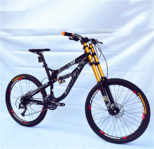 "Excelli Bike 27 /30 Speeds 26""*17"" Downhill Mountain Bike Full Suspension Mountain bicycle Aluminium Alloy Downhill Bicicletas(China)"
