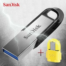 SanDisk USB 3.0 Flash Drive 128GB 64GB 32GB 16GB ULTRA FLAIR Memory Stick Pen Drives Pendrive Flashdisk U Disk for Computer(China)