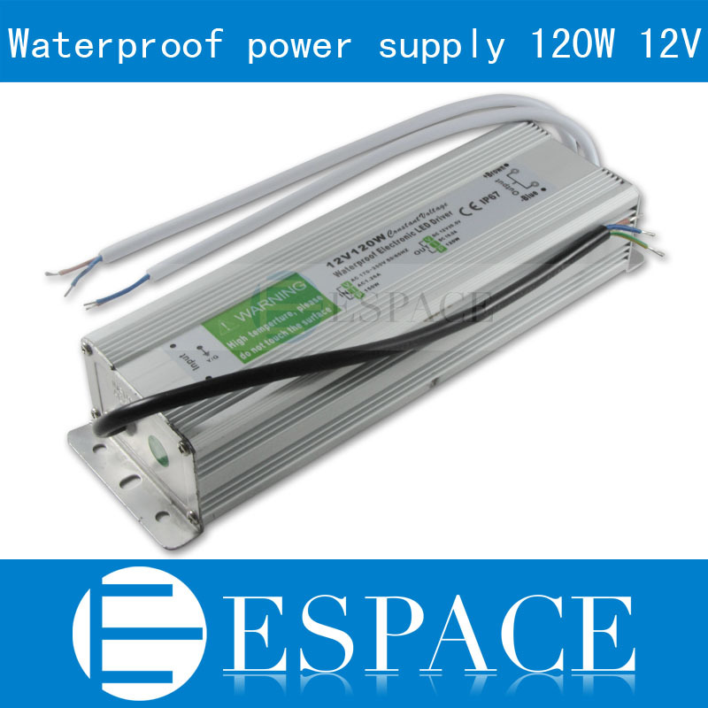IP67 12V 10A 120W AC100-240V Input Electronic Waterproof Led Power Supply/ Led Adapter 12V 120W free shipping<br>