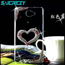 Buy 3D bling Crystal diamond Rhinestone Transparent back cover case sony Xperia E3 E4 l36h l39h M M2 aqua Z2 Z2A Z3 Z4 Z5 mini for $4.16 in AliExpress store
