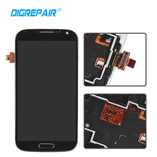 "5.0"" inch Blue/Black/White For Samsung Galaxy S4 i9500 LCD Display Panel Touch Screen with Digitizer+Bezel Frame Assembly Parts(China)"