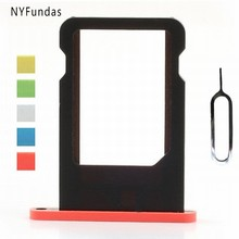 NYFundas for Apple iPhone 5c iPhone5C Nano SIM Card Tray Holder Adapter Tool Repair Part Replacement Mobile Phone Accessories(China)