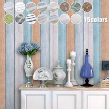 3.2M/Roll Vintage Home Stripe Wall Sticker Living Bedroom Decorative Wall Decals Waterproof PVC Self Adhesive Wallpaper V3(China)