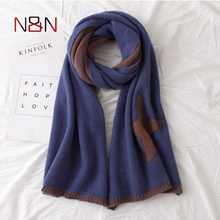 Winter luxury Brand Star Printed Cashmere Scarf Women Oversized Blanket Scarf Wrap Warm Wool Scarf Women Shawls and Scarves(China)