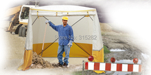 Convenient construction tent Engineer pop up  tents outside Wire installation tent