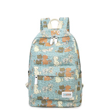 2016 New Women Canvas Backpack School bags For Teenagers Fashion Printing Cat Backpack Casual Travel bags Shopping Backpack H867