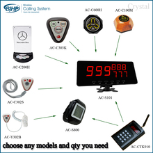 (choose any models and qty you need)Wireless waiter call button system chinese restaurant equipment