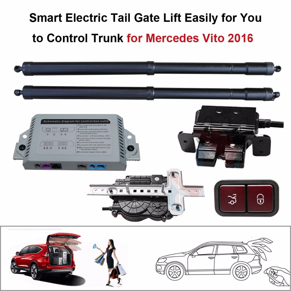 Smart Auto Electric Tail Gate Lift Mercedes Vito 2016 Control Set Height Avoid Pinch electric suction