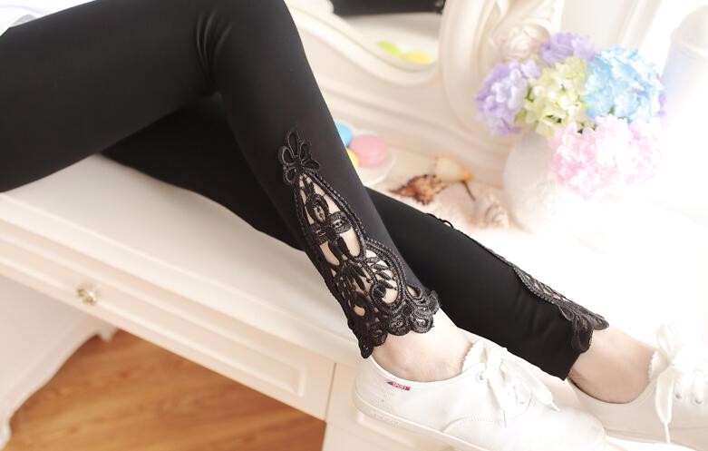 Babbytoro Brand Cotton Lace S- 7XL Leggings For Women 11