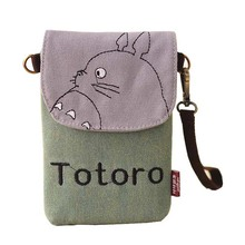 Universal canvas phone Bag Totoro mobile Phone pouch bag For Xiaomi 3 redmi iPhone 6 6s Plus 5S SE 7 7Plus/Samsung Galaxy S6 S7(China)