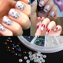 Outline Flowers Nail Irregular Grid Pattern Stamping Nail Art Tips Manicure Stencil Hollow Stickers Guide French Tips