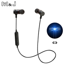 Buy Bluetooth Headphones magnet Wireless In-Ear Noise Reduction earphone Microphone Sweatproof Stereo tereo Bluetooth Headset for $10.29 in AliExpress store