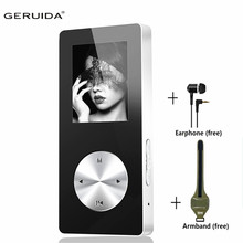 MP4 Player 8gb Support Voice Recorder FM MP4 Music Player Full Metal MP4 Music Speaker Build-in Speaker With Armband Earphone