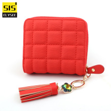 Fashion Women Small Wallets And Purses Female Coin Purse Leather Tassel Money Bags Mini Girl Wallets Zipper Card Holder Clutches